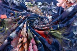 Ausbrenner Stretch met fluweel op travel bloem