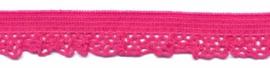 Elastische kant fuchsia (12 mm)
