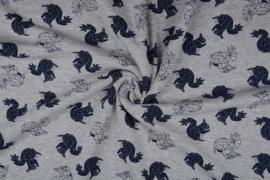 Alpenfleece Eekhoorn origami  licht grijs