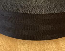 Boomband 50 mm zwart nylon