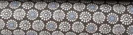 Katoen Bloem grijs (Denim collectie)