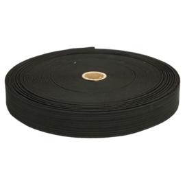 Elastiek (Boxershort ) uni zwart 3cm