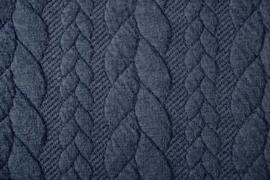 Gebreide kabel donker jeans