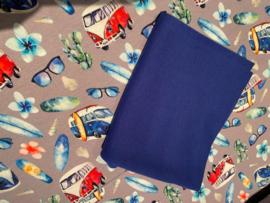 Setje 16 Tricot Ibiza style Volkswagen blauw