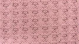 Wafel Knit Oud roze (Katoen)