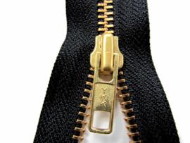 YKK 6mm Deelbare  rits 35 cm goud /zwart