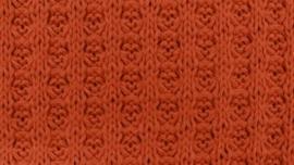 Wafel Knit army roest/brique(Katoen)