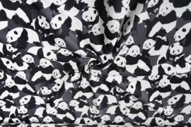 Alpenfleece jogging Panda's Grijs