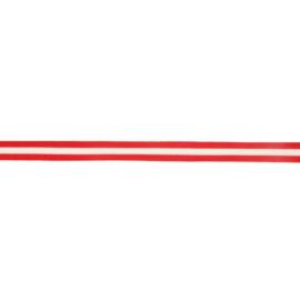 Elastisch lint Gestreept Rood Wit