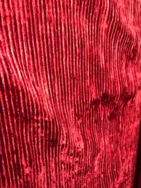 Plissée rood velours