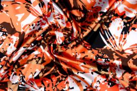 Satijn camouflage oranje