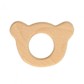 Houten berenhoofd ring 6,5 *4,5