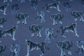 Alpenfleece Jogging tijger blauw