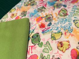 Setje 9 Angry Birds groen (Mattel)