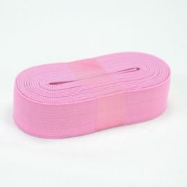 Elastiek uni licht roze 3cm