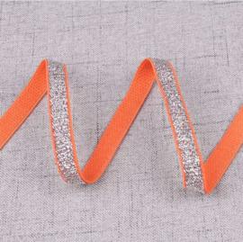 Elastiek glitter oranje