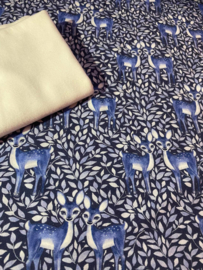 French Terry Brushed Bambi blauw