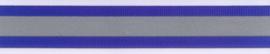 Ribs lint reflecterend kobalt blauw
