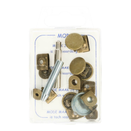 Broekhaak oud goud (4 stuks/doos)