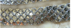 Pailleten band zilver 3.5cm