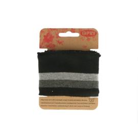 Manchetten zwart grijs (Opry)
