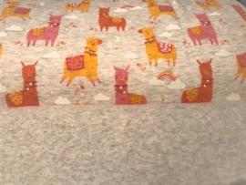 Alpenfleece Jogging Sweet Lama Oranje Oker Roze
