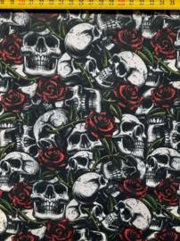 Katoen skulls & roses