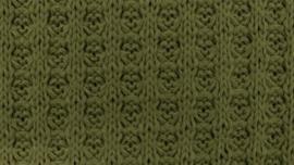 Wafel Knit army groen (Katoen)