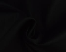Katoen poplin stretch zwart