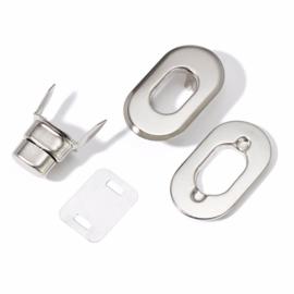 Prym draaigesp / tourniquet  zilver 35 mm