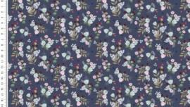 Tricot Flower Toff flowers blauw