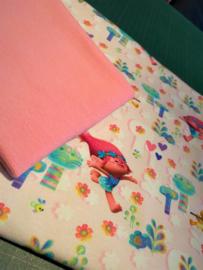 Setje 4 Trolls roze (Mattel)