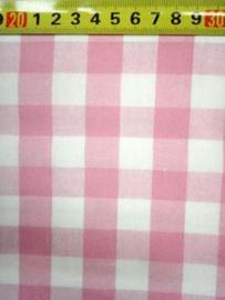 Katoen Ruitjes Roze (2cm)