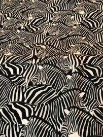 Viscose Daytona Zebra zwart/wit (Swafing)