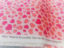 "Katoen ""Mini Hearts""by Loralie Harris"