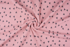 Alpenfleece driehoek zalm