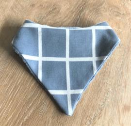 Slab / kwijlsjaaltje grijs blauw