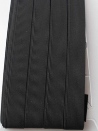 Elastiek uni zwart 2 cm