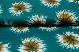 Viscose Pluis zeegroen