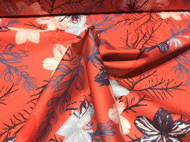 "Katoen ""Wild Flower by Lila Lotta"" koraal (swafing)"