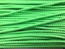 Satijn koord gevlochten 4mm Groen