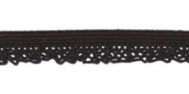 Elastische kant zwart (12 mm)