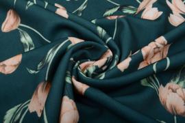 Scuba Crepe Tulp groen