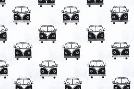 Katoen VW bus zwart wit