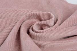 Ribfluweel poeder roze (16W)