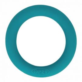 Siliconen bijtring petrol blauw 65 mm (Opry)