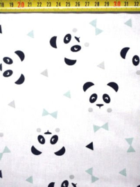 Katoen panda wit munt
