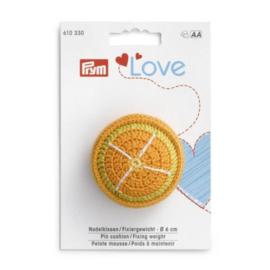 Prym speldenkussen - Fixeergewicht 6 cm sinaasappel