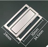 Bikinisluiting Zilver 3 cm