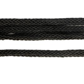 Satijn koord gevlochten 5mm zwart